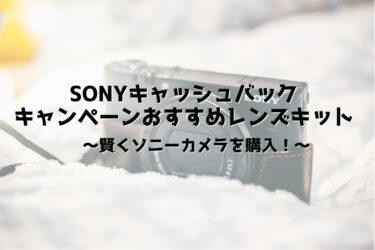 【2021夏】ソニーのキャッシュバック対象レンズキットのおすすめを紹介